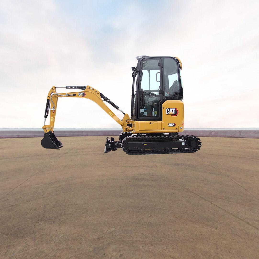 卡特彼勒新一代CAT®302CR迷你型挖掘机全景看车