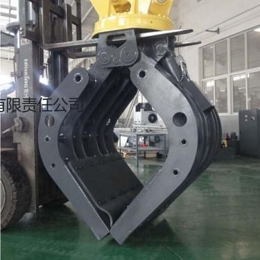 供应常青挖掘机配件360度旋转挖机抓斗 大块物料装卸用抓斗