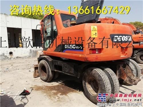 出售二手斗山150W-7轮式挖掘机哪里有150轮式挖掘机出售