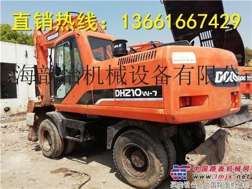 转让二手斗山210W-7轮式挖掘机哪里有210轮式挖掘机
