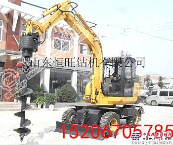 挖机改钻机 大口径打土 伸缩杆式螺旋钻机
