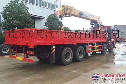 陕汽德龙前四后八16吨徐工随车吊