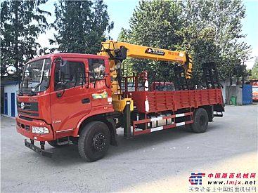 三环昊龙5吨随车吊平板运输车