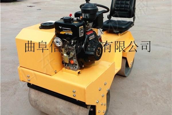 供應信德xd-850壓路機小型壓路機單鋼輪壓草坪工地建房打地基震動打夯小碾子微型壓路機