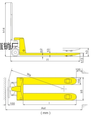 供应诺友2吨、3吨手动液压搬运车批发-厂家直销手动液压搬运车其他工作机构