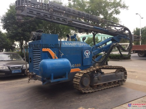 出售二手黑金刚G580 钻机潜孔钻机 山东力高信机械