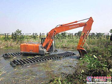 济南出租斗山215-91水陆两用挖掘机.水上挖掘机