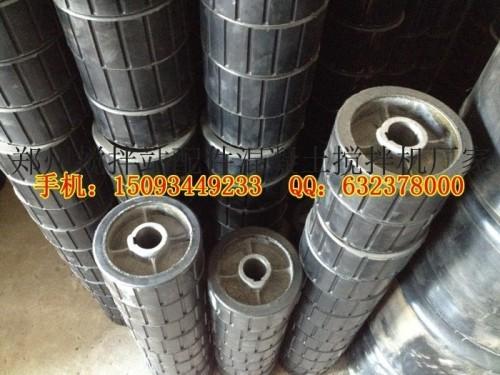 滚筒筛胶轮供货商 滚筒式搅拌机摩擦胶轮 驱动橡胶托轮 传动轮