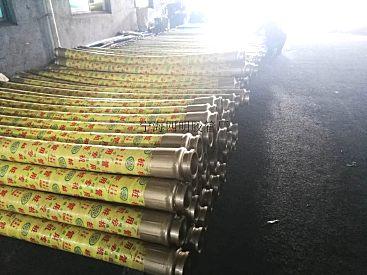 供应混凝土输送胶管DN125*3000四层钢丝桩机防爆胶管