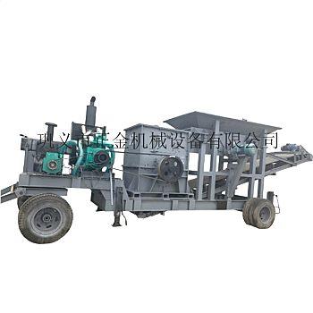 矿山移动式石料破碎站 节省运输的移动破碎制砂机优惠报价