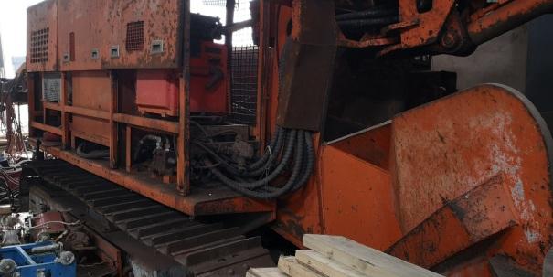二手双动力挖掘式装载机(扒渣机)