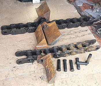 二手扒渣机刮板链组
