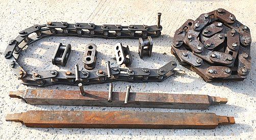 梭式矿车刮板链条