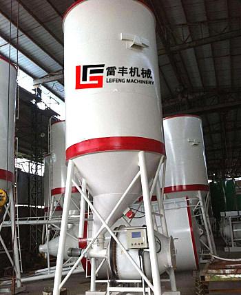 供应雷丰机械滚筒式干混砂浆储料罐
