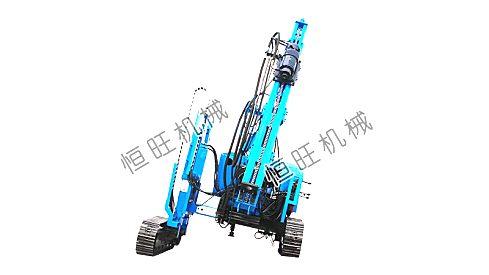 供应恒旺打桩机爬坡能力强履带伸缩滑移打桩机