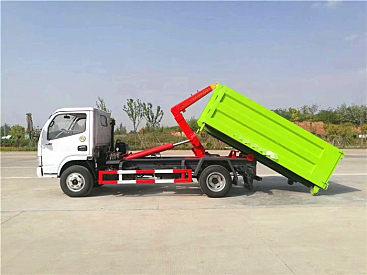 江苏全新东风车厢可卸垃圾车_勾臂垃圾车_现车出售,可按揭分期购车。