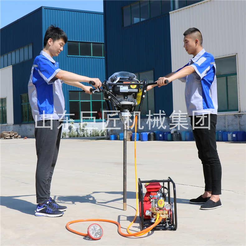背包式岩芯钻机 小型轻便岩芯钻机工地地勘探钻机 手持式钻机