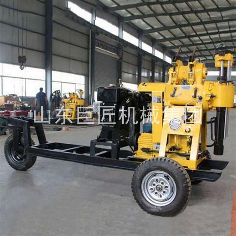 巨匠轮式液压钻机XYX-130型百米勘探岩心钻机四档变速移动方便