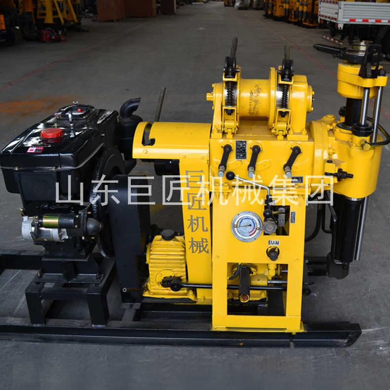 巨匠供货百米液压钻机HZ-200Y型勘探岩心钻机22HP水冷柴油机