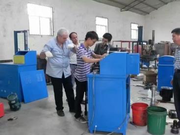 48钢管57钢管脚手架钢管缩管机 压管机 可调头钢管压管压头机