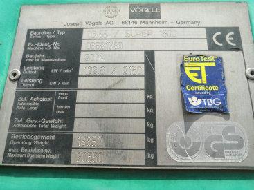 出售二手维特根s1800沥青混凝土摊铺设备