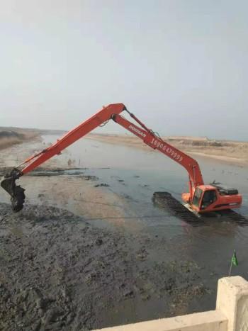 出租长臂挖掘机、加长臂挖掘机、水陆两用挖掘机