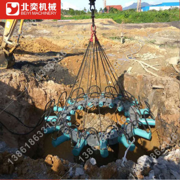 供应北奕BYMK180S液压破桩机 灌注桩头破除机器 高铁桩破桩设备