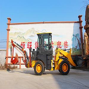 供应装载挖掘机厂家轮式两头忙挖掘装载机一机两用