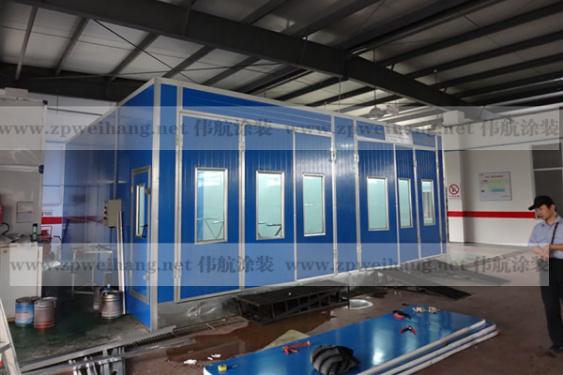 供应伟航汽车打磨房WH-001汽车连体房电加热环保设备