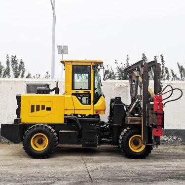 供应富中fz-9打桩机高速公路护栏打桩机 打拔钻一体护栏打桩机