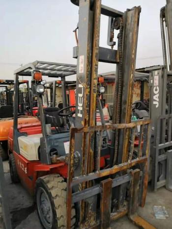 出售二手合力叉车3吨4米门架叉车