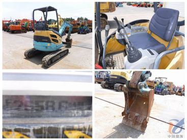 山东地区出售二手久保田U-20-3S挖掘机 橡胶履带遮阳棚车况好