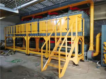 邹平伟航催化燃烧成套设备废气治理专家移动伸缩房厂家专业制造