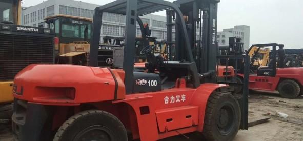 合力10吨叉车 个人出售二手叉车 转让二手10吨叉车