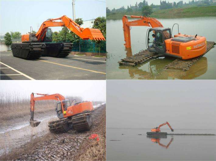 水路挖掘机出租 水陆挖掘机租赁 水挖机出租