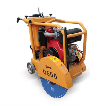手推式汽油混凝土路面切割机 RH-500柴油马路切缝机 沥青路面切割机