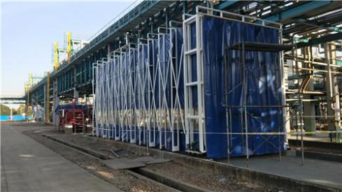 山东环保设备移动伸缩房废气处理设备光氧催化吸尘柜烤漆房伟航供应