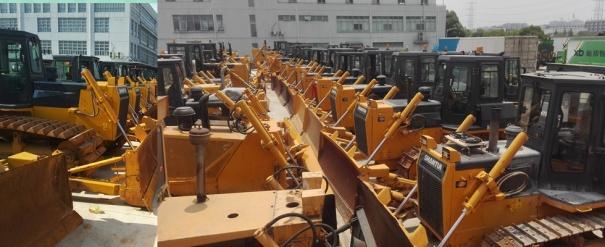 台州二手推土机市场||出售二手山推160-220-320推土机