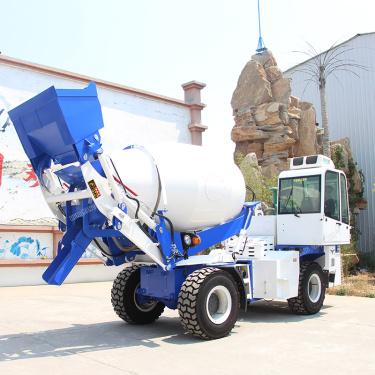 维修恒旺自上料混凝土搅拌车3.5方4方移动式全自动一体式混泥土搅拌车厂家搅拌运输车