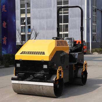 供应恒旺双钢轮振动压路机 路面压实机 3T座驾式压路机