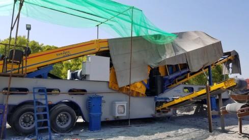 供应山友重工100吨每小时建筑垃圾破碎站