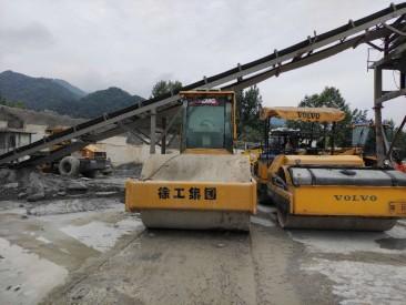 河南嵩县工地出售二手20吨单钢轮压路机