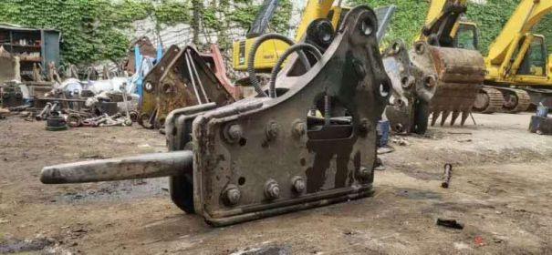 出售二手欧特破碎锤140挖机炮头强劲有力