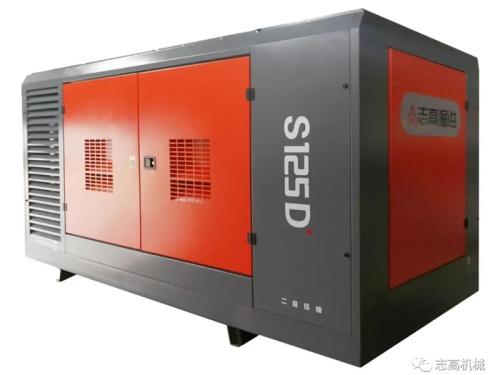 出售志高S125D柴固空压机36立方30公斤水井钻机深井专用柴固螺杆机