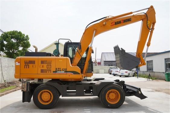 出售山重HTL135轮式挖掘机进口泵阀