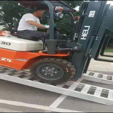 供应久达大象牌3.8米轮履式机械用叉车铝梯