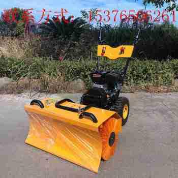 手推式环卫全齿轮三合一除雪机 变速扫雪滚刷厂家 小型汽油扫雪机