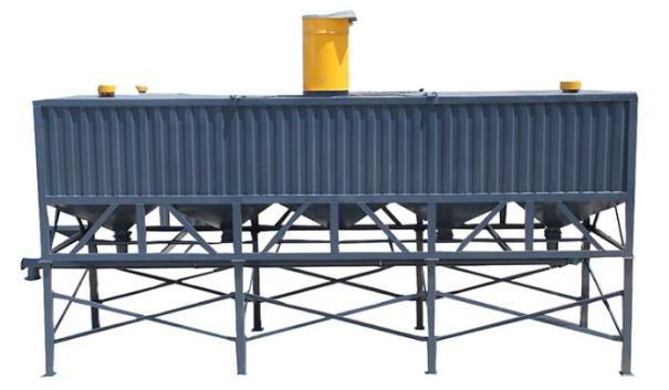 出售二手宣诚80吨混凝土搅拌站方形水泥仓卧式水泥罐低价处理