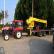 拖拉机吊吊车改装 拖拉机托盘吊 牵引式拖拉机平板吊