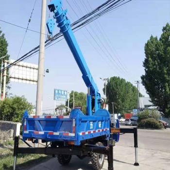 陕西随车吊厂家 5吨三轮平板吊 三轮平板自卸吊